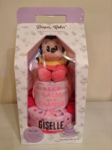 2 Tier Minnie Diaper Cake Baby Gift Giselle 3