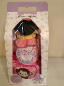 2 Tier Minnie Diaper Cake Baby Gift Giselle 4