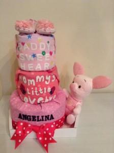 3 Tier Diaper Cake Baby Gift Hamper Angelina 1