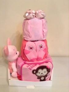 3 Tier Diaper Cake Baby Gift Hamper Angelina 2