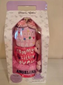 3 Tier Diaper Cake Baby Gift Hamper Angelina 3