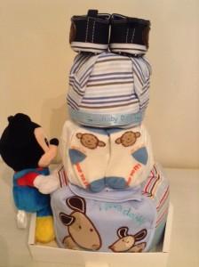 3 tier Mickey Diaper Cake Baby Gift Boy Spence 2