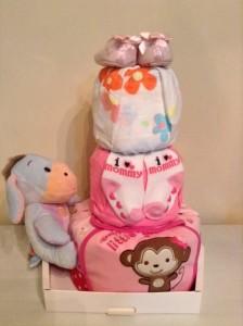 Baby Gift 3 Tier Diaper Cake Girl Olivia 2
