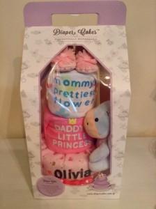 Baby Gift 3 Tier Diaper Cake Girl Olivia 3