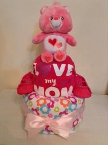 Love A Lot Care Bear Diaper Cake Unique Baby Gift 3
