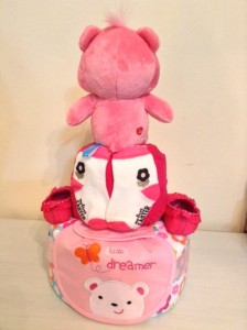 Love A Lot Care Bear Diaper Cake Unique Baby Gift 4