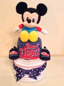 Mickey Mouse Baby Boy Diaper Cake Unique Baby Gift 3