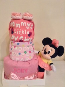 Minnie Mouse Joey 3 Tier Diaper Cake Baby Gift 1