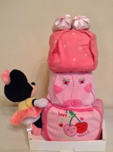 Minnie Mouse Joey 3 Tier Diaper Cake Baby Gift 2