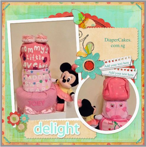 Minnie Mouse Joey 3 Tier Diaper Cake Baby Gift 5