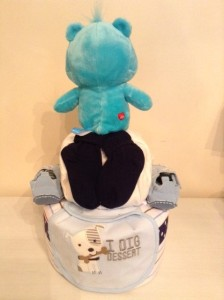 Music Care Bear Baby Boy Diaper Cake Unique Baby Gift 2
