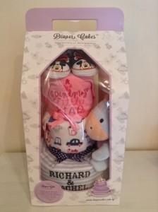 Richard and Rachel Twin Diaper Cakes Baby Gift 1