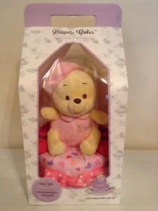 Single Tier Pooh Baby Girl Baby Gift Diaper Cake 1