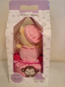 Single Tier Pooh Baby Girl Baby Gift Diaper Cake 2
