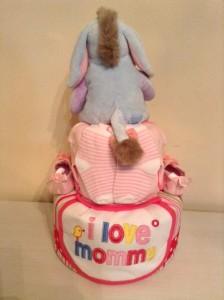 2 Tier Eeyore Baby Gift Diaper Cake Girl Terris 2