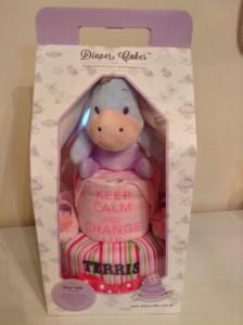 2 Tier Eeyore Baby Gift Diaper Cake Girl Terris 3