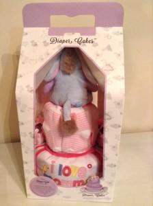 2 Tier Eeyore Baby Gift Diaper Cake Girl Terris 4