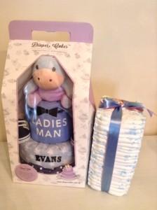 2 Tier Eeyore Diaper Cake Baby Gift Baby Boy Evans 5