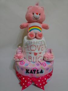 2-Tier-Diaper-Cake-Singapore-Baby-Gift-Hamper-Pink-Care-Bear-Baby-Girl-Kayla-1