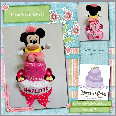 2-Tier-Diaper-Cake-Singapore-Baby-Gift-Hamper-Pink-Minnie-Mouse-Baby-Girl-Charlotte-3