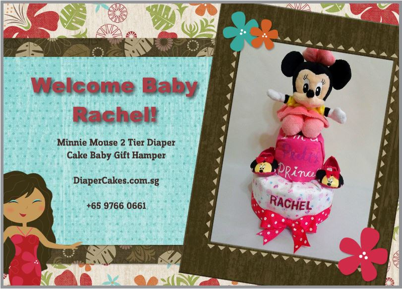 2-Tier-Diaper-Cake-Singapore-Baby-Gift-Hamper-Pink-Minnie-Mouse-Baby-Girl-Rachel-5