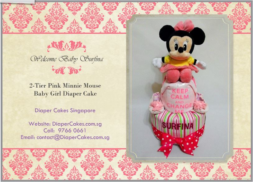 2-Tier-Diaper-Cake-Singapore-Baby-Gift-Hamper-Pink-Minnie-Mouse-Baby-Girl-Surfina-5