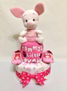 2-Tier-Diaper-Cake-Singapore-Baby-Gift-Hamper-Pink-Piglet-Baby-Girl-1