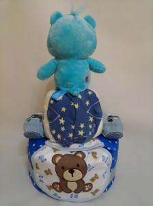 2 Tier -DiaperCakesSingapore-BabyGifts-CareBear-Boy 6