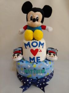 2 Tier -DiaperCakesSingapore-BabyGifts-MickeyMouse-Boy-Matthew-1