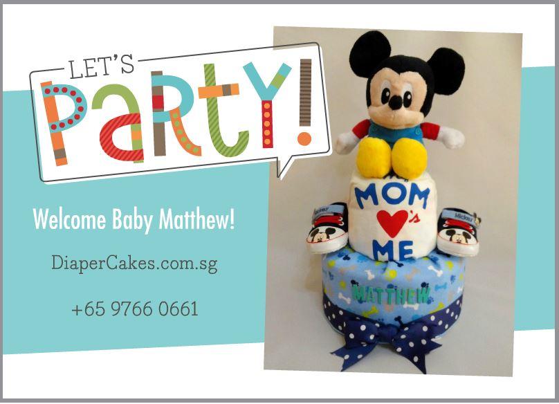 2 Tier -DiaperCakesSingapore-BabyGifts-MickeyMouse-Boy-Matthew-5