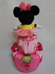 2 Tier -DiaperCakesSingapore-BabyGifts-MinnieMouse-Girl 2