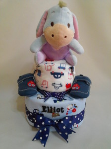 2-Tier- Eeyore-Diaper Cake-Baby Gifts Singapore- Boy-Elliot-1