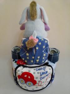 2-Tier- Eeyore-Diaper Cake-Baby Gifts Singapore- Boy-Elliot-2