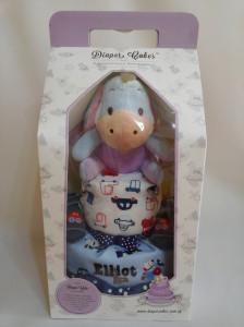 2-Tier- Eeyore-Diaper Cake-Baby Gifts Singapore- Boy-Elliot-3