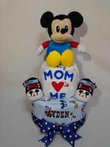 2-Tier- MickeyMouse-Diaper Cake-Baby Gifts Singapore- Boy 1