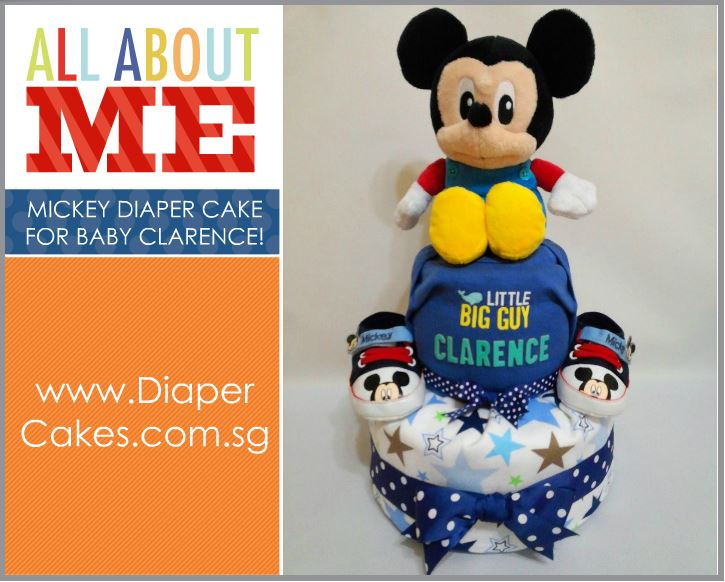 2-Tier- MickeyMouse-Diaper Cake-Baby Gifts Singapore- Boy 10