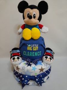 2-Tier- MickeyMouse-Diaper Cake-Baby Gifts Singapore- Boy 5