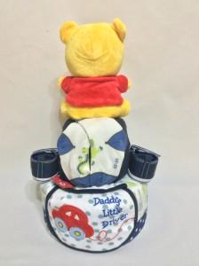 2-Tier- Winnie-The-Pooh-Diaper Cake-Baby Gifts Singapore- Boy-Rayyan-2