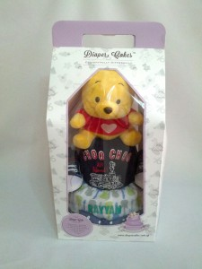 2-Tier- Winnie-The-Pooh-Diaper Cake-Baby Gifts Singapore- Boy-Rayyan-3