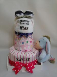 3-Tier-Blue-Eeyore-Diaper Cake-Baby Gifts Singapore- Boy-Twins-1