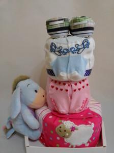 3-Tier-Blue-Eeyore-Diaper Cake-Baby Gifts Singapore- Boy-Twins-2