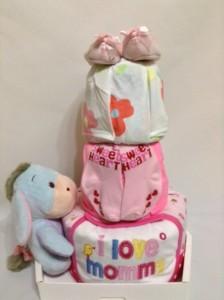 3-Tier-Love -CareBear-DiaperCake-BabyGift-Girl 2