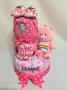 3-Tier-Rainbow-Care-Bear-Diaper Cake-Baby Gifts Singapore- Girl-Leanne-1