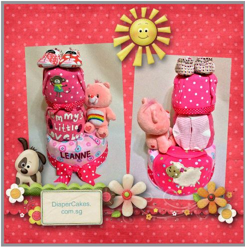3-Tier-Rainbow-Care-Bear-Diaper Cake-Baby Gifts Singapore- Girl-Leanne-5