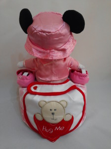 1 Tier -DiaperCakesSingapore-BabyGifts-MinnieMouse-Girl-Jolie-2