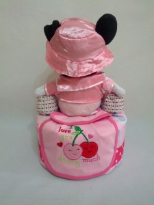 1-Tier-Minnie-Mouse-Diaper Cake-Baby Gifts Singapore- Girl-Enya-2