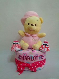 1-Tier-Winnie-The-Pooh-Diaper Cake-BabyGifts Singapore-Girl-Charlotte-1