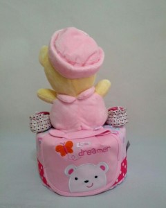 1-Tier-Winnie-The-Pooh-Diaper Cake-BabyGifts Singapore-Girl-Charlotte-2
