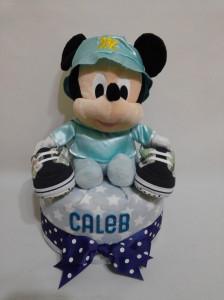 1Tier -DiaperCakesSingapore-BabyGifts-MickeyMouse-Boy-Caleb-1