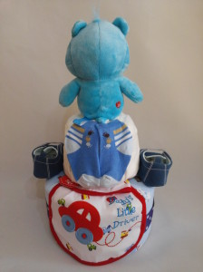 2-Tier-Blue-Care-Bear-Diaper Cake-Baby Gifts Singapore- Boy-2